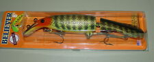 "8"" Believer Jointed Drifter Tackle Musky Pike Crankbait Nine Dollar Bass 800J-50"