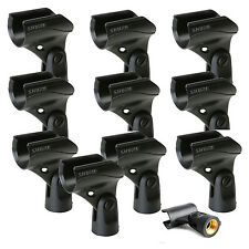 """Shure A25D Microphone Clip for SM58 SM57 & Other 3/4"""" 10-Pack Authorized Dealer"""