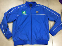 Men's BNP Paribas Tennis Open Sz XL Royal Blue Jacket by FILA Windbreaker