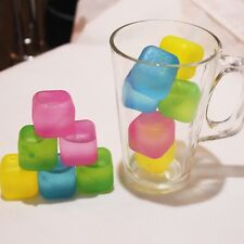 Amazing 12pc Silicone Multicolour Ice Cubes Cool Cold Drinks Bar Reusable Pieces