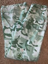 New With Tags Limited Too Size 16 Green Camo Pants Embroidered Flower Light