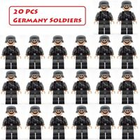 20 pcs WW2 German Military Soldier Mini figures Army SS Building Blocks Toys