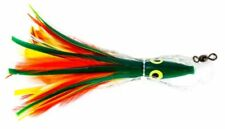 NEW Boone Tuna Eye Feather Rigged Lure, Mexican Flag, 5 1/2-Inch FREE2DAYSHIP
