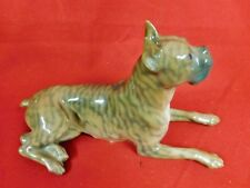 Royal Copenhagen 1708/3635 Brindle Boxer Figurine - Mint