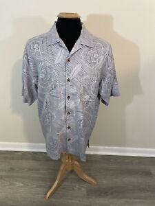 Tommy Bahama Men's Hawaiian Shirt Floral Silk Blend Size Medium