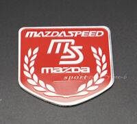 1Pcs Car Modified Sport Emblem Badge Sticker Logo Fits for MS MAZDA MAZDASPEED