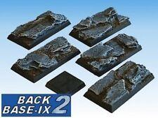 50mm x 25mm Resin Bases (5) Square Slate Warhammer