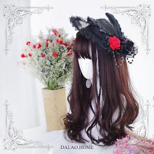 Tender Curly Hair Sweet Dolly Fairy Reddish Brown Princess Wig Lolita Harujuku