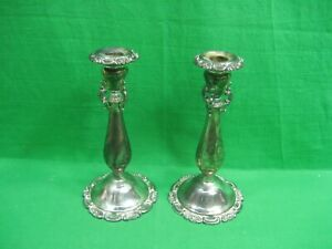 Vintage Wallace Baroque Silverplated Candlestick Holders Ornate