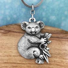 Koala Souvenir Pewter Keychain Australiana Gift, Australian Made