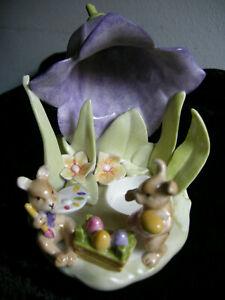 Villeroy & Boch Teelicht Ostern Hasen Blume Porzellan