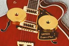 "Gretsch ® Gold Bridge Thumb Wheels 2400G5  .789"" Diameter, Set of Two 0061621000"