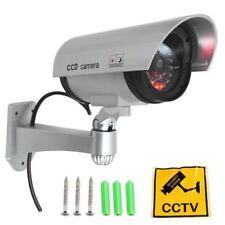 Cámara Vigilancia de Seguridad Fake  Falsa CCTV color gris. Con LED intermitente