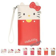 HELLO KITTY Double Wallet Flip Cover Galaxy S20 S10 S9 S8 Note20 Note10 Case