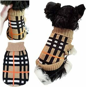 XXXS XXS XS S Miniature Dog Breed ONLY Knit Coat Designer Puppy Chihuahua Teacup