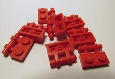 2540 LEGO Parts~(8) Plate, Modified 1 x 2 w Handle on Side RED 2540