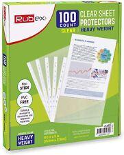 100 Heavyweight Sheet Protectors Holds 85 X 11 Inch Sheets 11 Hole Acid Free