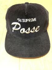 Supreme Posse 94 Corduroy hat Black vintage Adjuster baseball cap
