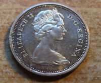 Special Toning 1965 PL CANADA Silver 25 cents Caribou Quality Holder included
