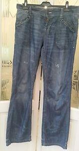 Superdry men's jean. Size W32 L32. Blue slim 1954 union work wear VGC RN: 11817