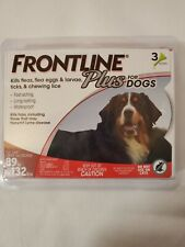 Frontline Plus 3 doses for Dog Doses Flea and Tick Treatment 89 to 132 lbs