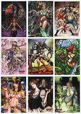 2016 Braiiinz Publishing Horror Meets Girl Complete 44 Card Master Set w/ Promos