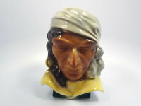 Vintage Royal Copley Pirate Indian Head Vase Wall Pocket