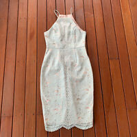 Rodeo Show Size 10 Pencil Dress Mint Green Lace Cocktail Party