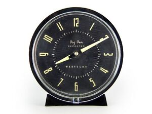 Westclox Big Ben Repeater Art Deco Period Alarm Clock Black White Lovely Example