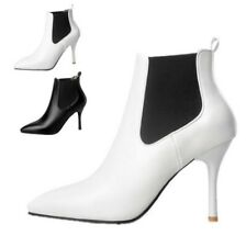 Women Fashion Short Ankle Boots Pointed Toe Party Wedding Stilettos Heels Shoes