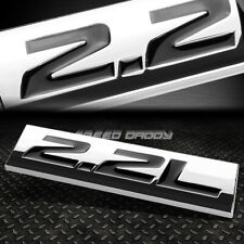 METAL EMBLEM CAR BUMPER TRUNK FENDER DECAL LOGO BADGE CHROME BLACK 2.2L 2.2 L