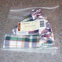 Longaberger Woven Traditions Plaid SMALL COMFORTS Basket Liner ~ New in Bag!