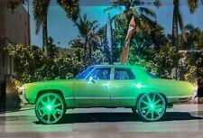 LED Bild Wandbild 65 x 45 cm Leuchtbild US CAR OLDTIMER Sportwagen