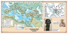 CoolOwlMaps The Roman World at birth of Christ and Rome, Paper Bible Wall Map