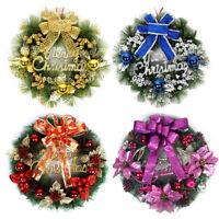 WR_ FM_ 30/40/50CM CHRISTMAS LARGE WREATH DOOR WALL ORNAMENT GARLAND XMAS DECOR
