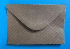 25 Brown Kraft Small Envelopes 70x110mm,Wedding Invitations, RSVP, Crafts.
