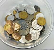 Lot of 65 Mixed Old Israel Coins - Sheqel Lira Sheqalim Agora World Coin Collect