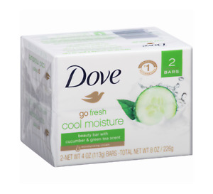 Dove Go Fresh Cool Moisture /Dove Beauty Bar Cucumber and Green Tea (2) Bars