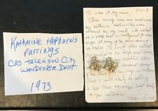 KATHARINE HEPBURN 1973 Worn Used Owned Earrings CBS Wardrobe Prop LOA PROVENANCE