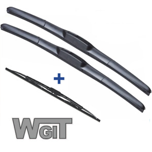 SsangYong Rexton Wiper Blades Hybrid Aero For SUV 2004-2012 FRONT PAIR&REAR 3xBL