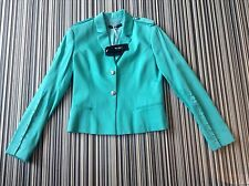 BNWT 100% auth VERSACE, Ladies Green Elegant, Modern Jacket. 44 RRP £450