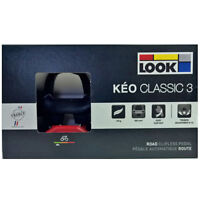 NEW 2019 LOOK KEO CLASSIC 3 Road Pedals with Gray Grip Cleats: BLACK/RED