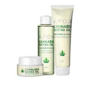AVON Cannabis Sativa Oil Collection - Cream - Balm - Cleanser FREE P&P