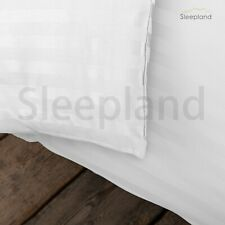 300TC 100% EGYPTIAN COTTON FITTED SHEET SATIN STRIPE SUPER KING WHITE LUXURY