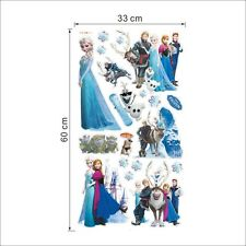 Frozen Wall Art Sticker Mural Disney Elsa Anna Olaf  Hans Prince removable