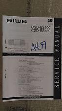 Aiwa csd-es500 es530 service manual original repair book stereo cd player radio