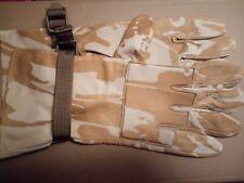 Genuine Cuero Camuflaje Desierto militar británica Guantes De Combate-tamaño 10-NEW Airsoft