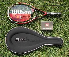 New Wilson Ncode W4 Red Fury racket  n code W 3/8 (L3) (3) 107 string/case promo