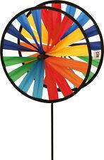 CIM Windspiel Windrad Doppelwindrad Magic Wheel Twin Ø 25 cm Garten 65 cm bunt