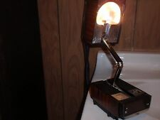 VINTAGE DESK TOP ADJUSTABLE LIGHT LAMP ALARM CLOCK COSMO TIME  AS IS  5500A